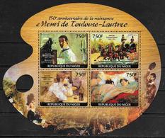 NIGER Feuillet N° 2279/82 * *  ( Cote 17e )  Tableaux Toulouse Lautrec - Arts