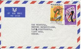 Nigeria Air Mail Cover Sent To Sweden - Nigeria (1961-...)