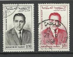 Marocco 1962 Michel 480 - 481 King Hassan II O - Marokko (1956-...)