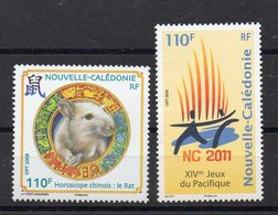 NOUVELLE CALEDONIE  Timbres Neufs ** De 2008  (ref 6647 ) Année Du Rat - Jeux Du Pacifique - Nueva Caledonia