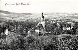 Cp Kreischa Im Erzgebirge, Gesamtansicht Vom Ort, Kirche - Allemagne