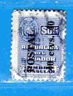 (Us3) Ecuador °- 1951 - Timbres Consulaire. Yvert. 541.  -  Used. - Ecuador