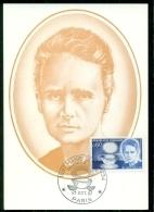 CM-Carte Maximum Card # 1967-France # Célébrités #Marie Curie #Prix Nobel,Nobel Prize,chimie,chemistry# Paris - Maximum Cards