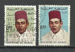 Marocco 1968 Michel 601 - 607 King Hassan II O - Marokko (1956-...)