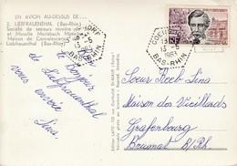 CP Affr Y&T 1383 Obl GOERSDORF Du 13.6.1963 Adressée à Brumath - Marcophilie (Lettres)