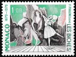 Timbre-poste Gommé Neuf** - Les Biches, Musique De Francis Poulenc - N° 1190 (Yvert) - Principauté De Monaco 1979 - Unused Stamps