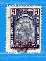 Ecuador °- 1936 - Bienfaisance- Patriotique Yvert. 7.  -  Used. - Ecuador