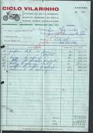 PORTUGAL FACTURE ILLUSTRÉE ( MOTO ) LUCIANO & MANUEL DA SILVA CICLO VILARINHO MACIEIRA VILA DO CONDE 1986 : - Portugal