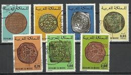 Marocco 1976/77, Old Coins, 7 Stamps, O - Marokko (1956-...)