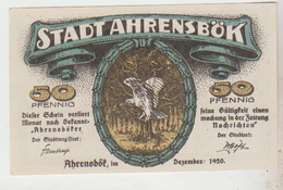 Notgeld Ahrensbok 50 Pfennig 1920 - [11] Emissions Locales
