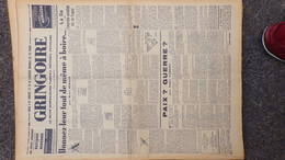 GRINGOIRE - 9 FEVRIER 1939- N° 535-JOURNAL WW2 PRESSE HEBDO- PARIS- BERAUD-TARDIEU-RECOULY-BARCELONE-HITLER - Français