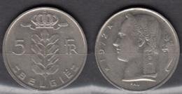Belgique 1972 Pièce De 5 Francs Cérès Circulé - 05. 5 Francs