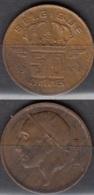 Belgique 1967 Pièce De 0.50 Francs Mineur Circulé - 03. 50 Centimes