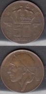 Belgique 1991 Pièce De 0.50 Francs Mineur Circulé - 03. 50 Centiem