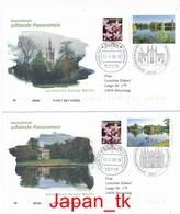 GERMANY Mi. Nr. 3401-3402 Gartenreich Dessau-Wörlitz - FDC - BRD
