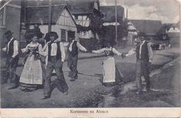 Seltene ALTE  AK   WEISLINGEN / Elsaß / Dep. 67  - Kermesse En Alsace -  1920 Gelaufen - France