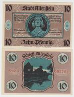 Notgeld Allenstein 10 Pfennig 1921 - [11] Emissions Locales