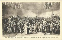 CPA Illustrée - Histoire De La Révolution - Le Serment Du Jeu De Paume (20 Juin 1789). - Histoire
