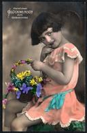 C6962 - Hübsches Junges Mädchen Im Kleid - Mode Frisur - Pretty Young Girl - Coloriert - Gel. Hohenstein Ernstthal - Abbildungen