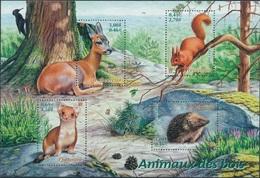 FRANCE Bloc   36 ** MNH Nature écureuil Squirrel Chevreuil Hérisson Igel  Hermine Hedgehog - Mint/Hinged