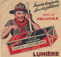 SCOUTISME / PHOTOGRAPHIE - Pochette Travaux Photos LUMIÈRE (1935) Illustration Scout. - Scouting