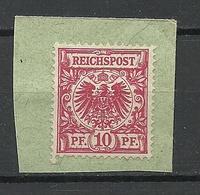 Deutsches Reich 1889 Michel 47 Ungestempelt (*) Auf Dem Briefstück - Ungebraucht