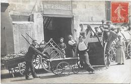 75 . PARIS 14e Ar   - Carte Photo Charron Voitures A Bras Maison P . GABAREL - 3 Rue De La ROCHELLE-PROJETÉE - District 01