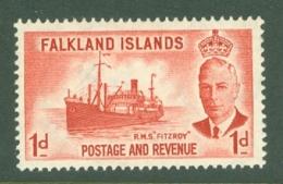Falkland Is: 1952   KGVI   SG173    1d       MNH - Falklandeilanden
