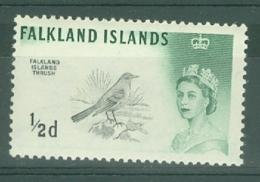 Falkland Is: 1966   QE II - Birds    SG227   ½d   [Wmk: Sideways]    MNH - Falkland Islands