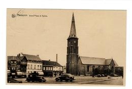 Mouscron Grand' Place Et Eglise. - Mouscron - Moeskroen