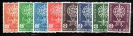 XP74 - MALDIVE 1962 , La Serie 87/94  ***  MNH MALARIA (2380A) - Maldive (...-1965)