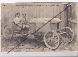Naudin Sur Voiture Sizaire-Naudin ;- Seine Inférieur -76- Grand Prix De L'A.C.F. 6 & 7 Juillet 1908 - Postales
