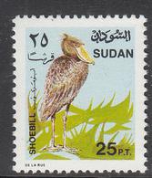 1991 Sudan 25p Definitive Shoebill Bird Oiseaux    MNH  **MUCH CHEAPER THAN BUYING SET!** - Soudan (1954-...)
