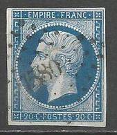 FRANCE - Oblitération Petits Chiffres LP 1580 JONCHERY-SUR-VESLE (Marne) - 1849-1876: Période Classique