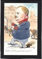 CPA Bobb Satirique Caricature Non Circulé Dessin Original Fait Main Portugal Royauté Royalty CARLOS - Satirische
