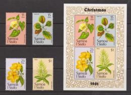 Samoa 1981 Christmas Set Of 4 + Minisheet MNH - Samoa