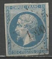 FRANCE - Oblitération Petits Chiffres LP 1590 JOUGNE (Doubs) - 1849-1876: Période Classique
