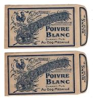 2  SACHETS  DE  POIVRE  BLANC - Labels