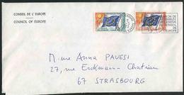 1972 Francia, Lettera Da Strasburgo Consiglio D'Europa - Servizio