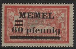 MEM 74 - MEMEL Merson N° 24a Neuf* Variétés Chiffres Espacés - Neufs