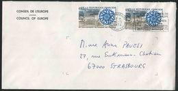 1974 Francia, Lettera Da Strasburgo Consiglio D'Europa - Servizio