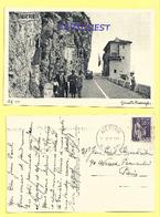 CPA  DOUANE ITALIENNE FRANCAISE - VINTIMILLE GRIMALDI 1938 - Douane