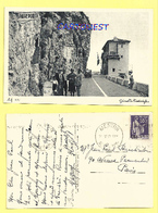 CPA  DOUANE ITALIENNE FRANCAISE - VINTIMILLE GRIMALDI 1938 - Customs