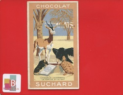Chocolat Suchard Jolie Chrono Illustrateur Fable De La Fontaine Gazelle Corbeau Tortue Rat  Extrait Poésie Au Dos - Suchard