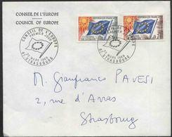 1969 Francia, Lettera Da Strasburgo Consiglio D'Europa - Servizio