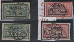 MEM 75 - MEMEL Merson N° 69-70-72-74 Oblitérés Avec Belles Oblitérations Centrales - Gebraucht