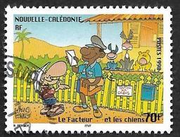 Calédonie  1998  - Y&T  761 -  Journée Du Timbre -Le Facteur - Oblitéré   -  Cote  1.70e - Usati