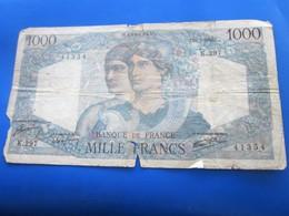 Billet Billets France  1946 Anciens Francs Circulés Au XXème 1 000 F 1945-1950 ''Minerve Et Hercule'' état Voir Photos - 1871-1952 Antichi Franchi Circolanti Nel XX Secolo