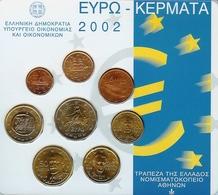 Griekenland Euroset 2002 In Blister - Grèce