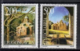 Yugoslavia,Monasteries In Serbia 1999.,MNH - 1992-2003 República Federal De Yugoslavia